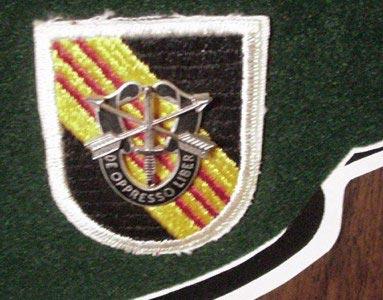 3rd Special Forces Group Cut Edge Beret Flash Veitnam Era