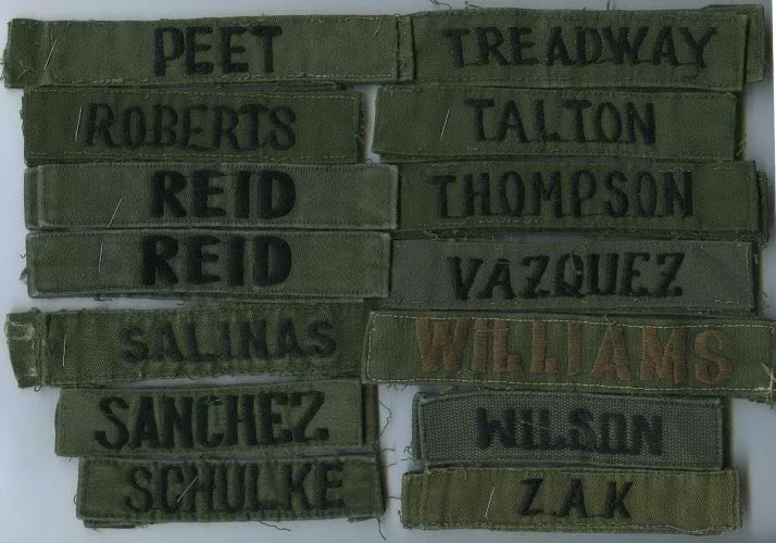 MILITARY PATCH US ARMY NAME TAPE TAG SEW ON FOR BDUS OLDER SUBDUED JONES