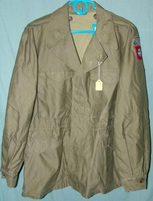 "58f95614f57 ... M-1943 Field Jacket. 3009B - 42R (chest 47"" sleeve 36"" back 31.5""    modern size Large Regular)"