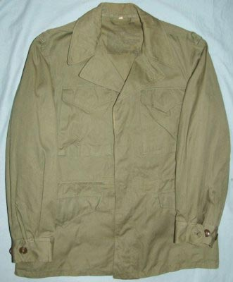 65ba6e083 3017H - 38R ( modern size Large/Long ), dated May 3, 1945, cutter's tag  still inside right sleeve, worn 1-2 times, label is 100%, pockets are clean  inside, ...