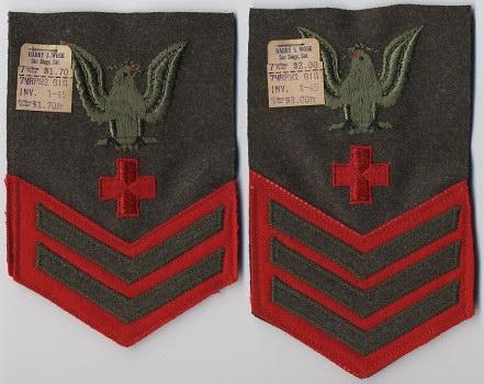 Marine uniform rank patches